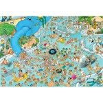Puzzle 3000 pièces : Jan Van Haasteren : Piscine paradis tropical