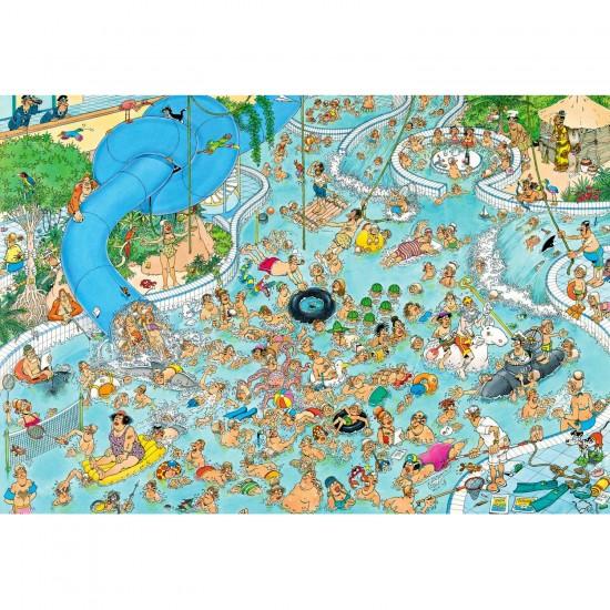 Puzzle 3000 pièces : Jan Van Haasteren : Piscine paradis tropical - Jumbo-617315