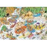 Puzzle 3000 pièces : Jan Van Haasteren : Rafting extrême
