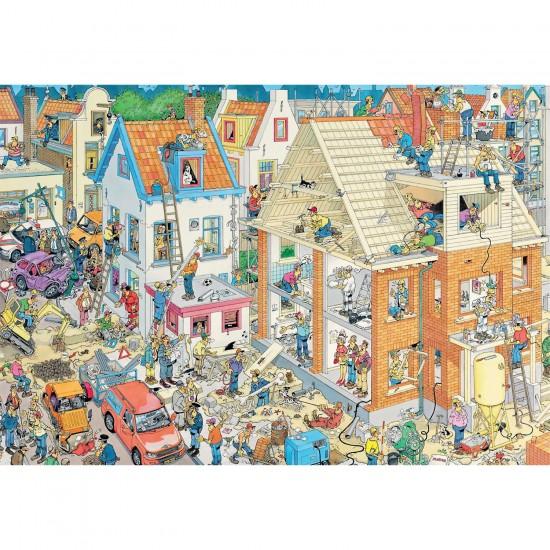 Puzzle 3000 pièces : Le chantier, Jan Van Haasteren - Jumbo-17462