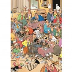 Puzzle 500 pièces : Club d'échecs