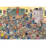 Puzzle 500 pièces : Jan Van Haasteren : Attrapez la souris