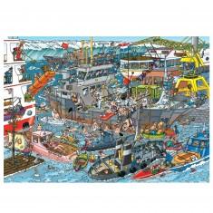 Puzzle 500 pièces : Jan Van Haasteren : Dans le port