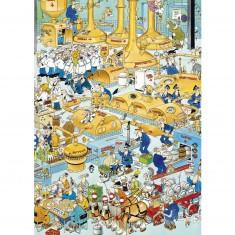 Puzzle 500 pièces : Jan Van Haasteren : La brasserie