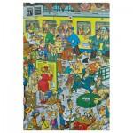 Puzzle 500 pièces : Jan Van Haasteren : La gare