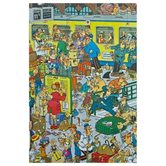 Puzzle 500 pièces : Jan Van Haasteren : La gare - Jumbo-617318