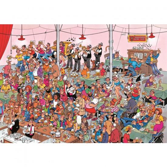 Puzzle 500 pièces : La fête de la bière - Jumbo-17282