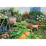 Puzzle 500 pièces : Un jardin en fleurs