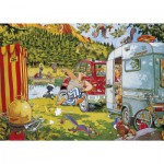 Puzzle 500 pièces Wasgij : Camping