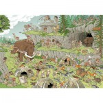 Puzzle 500 pièces Wasgij  : L'âge de pierre