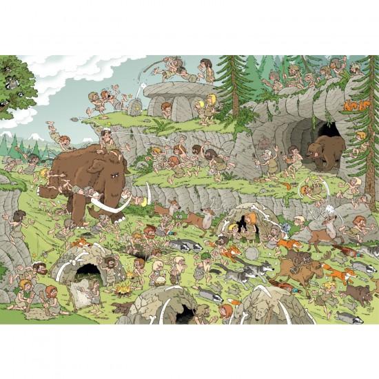 Puzzle 500 pièces Wasgij  : L'âge de pierre - Jumbo-19200