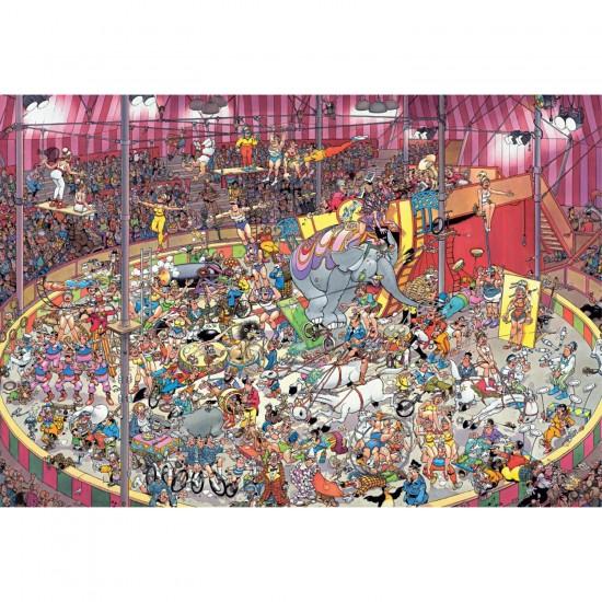 Puzzle 5000 pièces : Le cirque, Jan Van Haasteren - Jumbo-19018