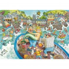 Puzzle 1000 pièces - Wasgij : La pêche du jour