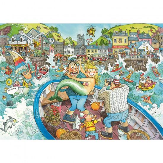 Puzzle 1000 pièces - Wasgij : La pêche du jour - Jumbo-13519