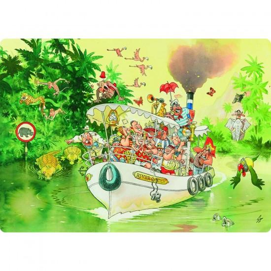Puzzle 1000 pièces - Wasgij : L'embouchure de la rivière - Diset-Jumbo-01999
