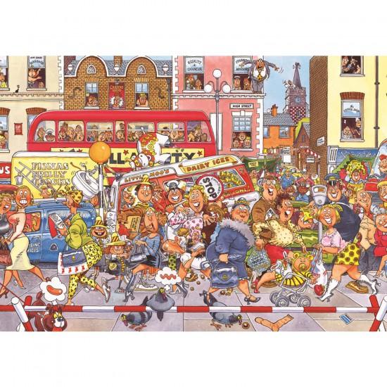 Puzzle 500 pièces - Wasgij : Attention, travaux ! - Diset-Jumbo-17125