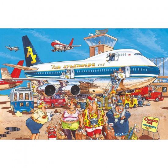 Puzzle 500 pièces - Wasgij : Bonnes vacances - Diset-Jumbo-17122
