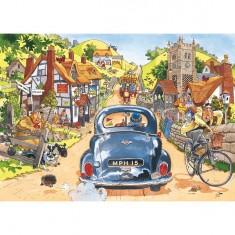 Puzzle 500 pièces - Wasgij : Conducteurs du dimanche