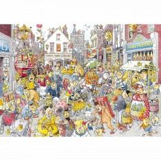 Puzzle 1000 pièces - Wasgij Destiny : Brouhaha dans la grand rue