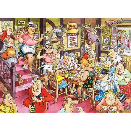 Puzzle 1000 pièces - Wasgij Mystery : Repas du Dimanche - Diset-Jumbo-12282