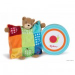 Kaloo Colors : Doudou ourson marionnette patchwork