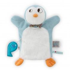 Doudou marionnette NopNop Pingouin Ice Cream