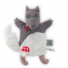 Doudou marionnette NopNop Woof loup