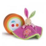 Kaloo Colors : Doudou lapinou rond fleur