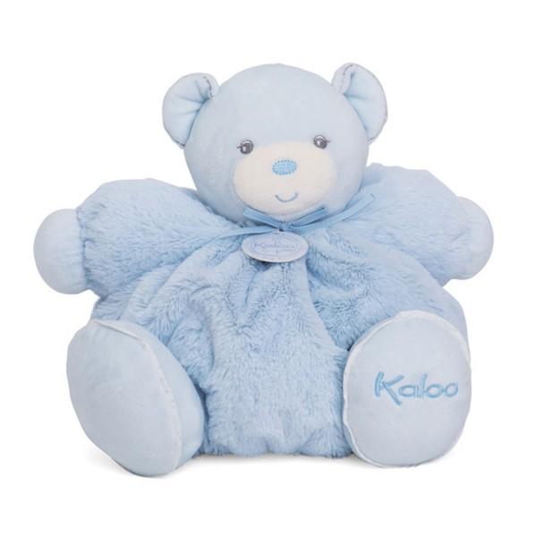 Kaloo Perle : Peluche 30 cm Patapouf large ours bleu - Kaloo-962142