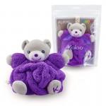 Kaloo Plume : Mini doudou neon : Ours violet fluo