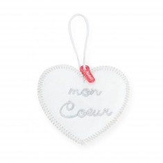 Pendentif coeur pour doudou : Monkoeur : Mon coeur
