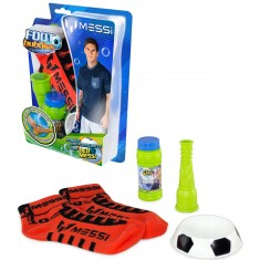 Kit de démarrage Foot Bubbles Lionel Messi : Chaussettes rouges