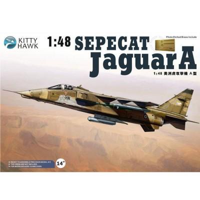 Maquette avion : Sepecat Jaguar A-EC 1/7 Provence, base de St Dizier 1994 - KittyHawk-KHM80104