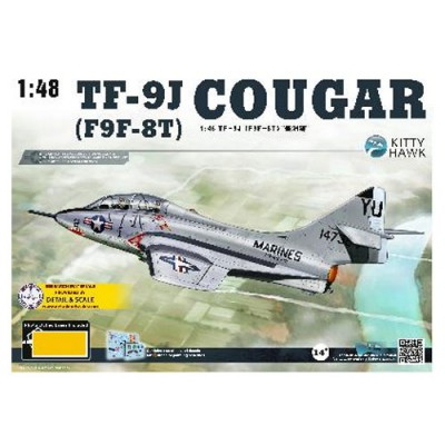 Maquette Avion : TF-9J Cougar US Navy - KittyHawk-KHM80129