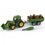 Modèle réduit : Tracteur John Deere avec remorque