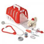 Set vétérinaire avec chien en peluche