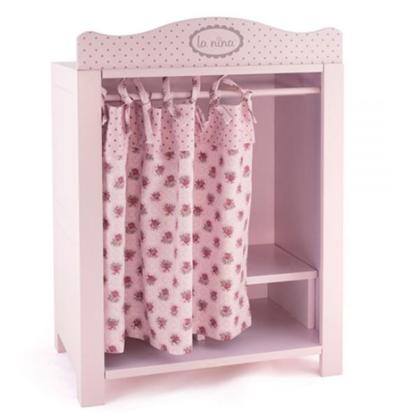 armoire rose fleurs roses pour poup e jeux et jouets la. Black Bedroom Furniture Sets. Home Design Ideas