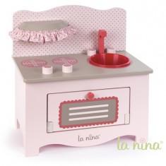 Cuisine en bois rose pour poupée : Petit modèle