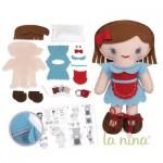Kit créatif : Poupée à coudre : Annick bleue