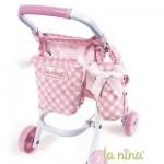 Sac poussette et sac porte-biberon pour poupée Anita 22 cm