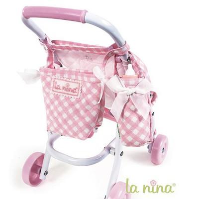 Sac poussette et sac porte biberon pour poup e anita 22 cm - Porte parapluie pour poussette ...