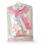 Vêtements pour poupée Anita 22 cm : Ensemble blanc et rose clair avec noeud