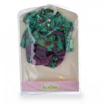 Vêtements pour poupée Anita 22 cm : Ensemble fleuri vert et gris