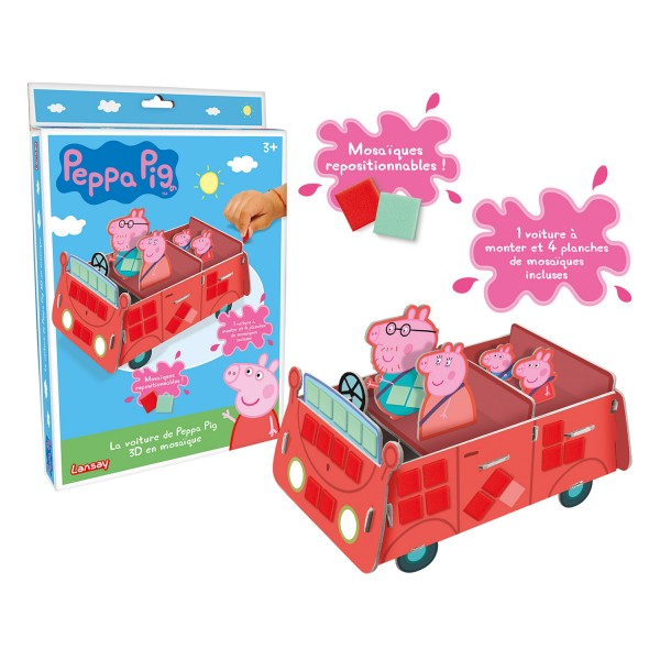 la voiture de peppa pig en mosa ques jeux et jouets lansay avenue des jeux. Black Bedroom Furniture Sets. Home Design Ideas