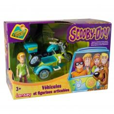 Figurine et véhicule Scooby-Doo : Samy avec la moto
