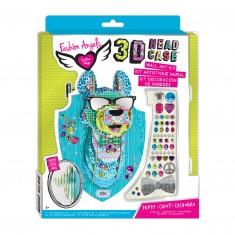 Kit tête d'animal 3D à monter : Zeek le chiot