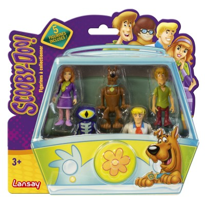pack de 5 figurines de collection scooby doo avec daphn. Black Bedroom Furniture Sets. Home Design Ideas