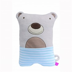Peluche coussin : Big Travelino : Ours Pedro