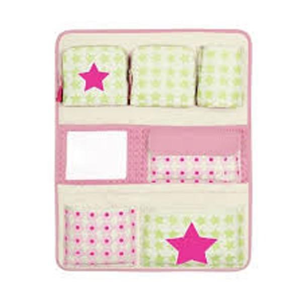 vide poche pour voiture starlight magenta lassig jeux et jouets lassig avenue des jeux. Black Bedroom Furniture Sets. Home Design Ideas