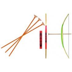 Arc grand modèle + 3 flèches Rouge